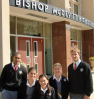 Students at Bishop McDevitt HS