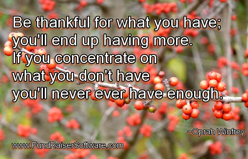 Gratitude and thankfulness for what you have leads to success