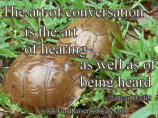 Listening is important in an conversation